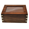 Wholesale Perfect Wooden Box Urn with Photo Frame, Large front shown