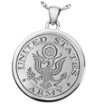 United States Army emblem Round Military Jewelry in silver