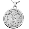 United States Air Force emblem Round Military Jewelry in silver
