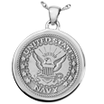 United States Navy emblem Round Military Jewelry in silver