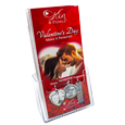 KP Marketing for Valentine's Day tri-folds with acrylic holder