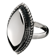 Cremation Jewelry Sterling Silver Oval Ring