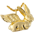 Rabbit (Ears Up) Pet Cremation Jewelry