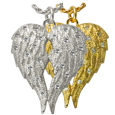 Wholesale Cremation Jewelry My Angel Companion Urn shown in silver and gold