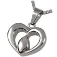 Wholesale Cremation Jewelry Stainless Steel Tear of Love- Center of the Hea