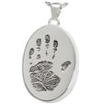 Wholesale B&B Silver Oval Handprint Jewelry with compartment