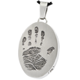 Wholesale B&B Stainless Steel Oval Handprint Jewelry with compartment