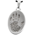 Wholesale B&B Stainless Steel Flat Oval Handprint Jewelry