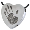 Wholesale Baby Handprint Heart Jewelry chamber stainless steel