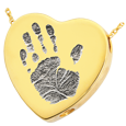 Wholesale Baby Handprint Heart Jewelry chamber gold