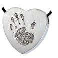 Wholesale Baby Handprint Heart Jewelry no chamber stainless steel