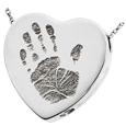 Wholesale Baby Handprint Heart Jewelry chamber sterling silver