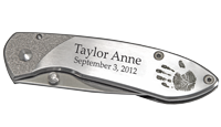 Wholesale Baby Handprint Pocket Knife with name and birth date