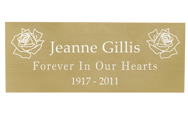 Wholesale Engraved Memorial Plaque- Large Brass Finish in block