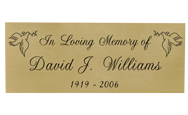 Wholesale Engraved Memorial Plaque- Large Brass Finish Black Fill in script