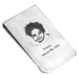 Photo Engraved Money Clip personalized with name and date