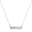 your pet's paw prints engraved onto a classic bar pendant necklace