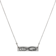forever and always infinity bar necklace