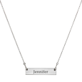 classic bar pendant necklace engraved with name