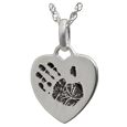 sterling silver handprint jewelry