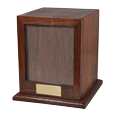 Wholesale Hardwood Photo Pet Urn shown without photo or engraving