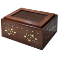 Wholesale Photo Wood Urn Chest shown plain with no photo
