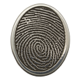 Comfort stone with actual fingerprint
