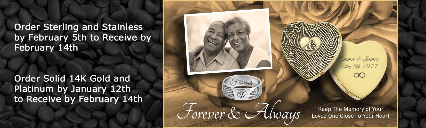personalized memorial jewelry for valentine's day