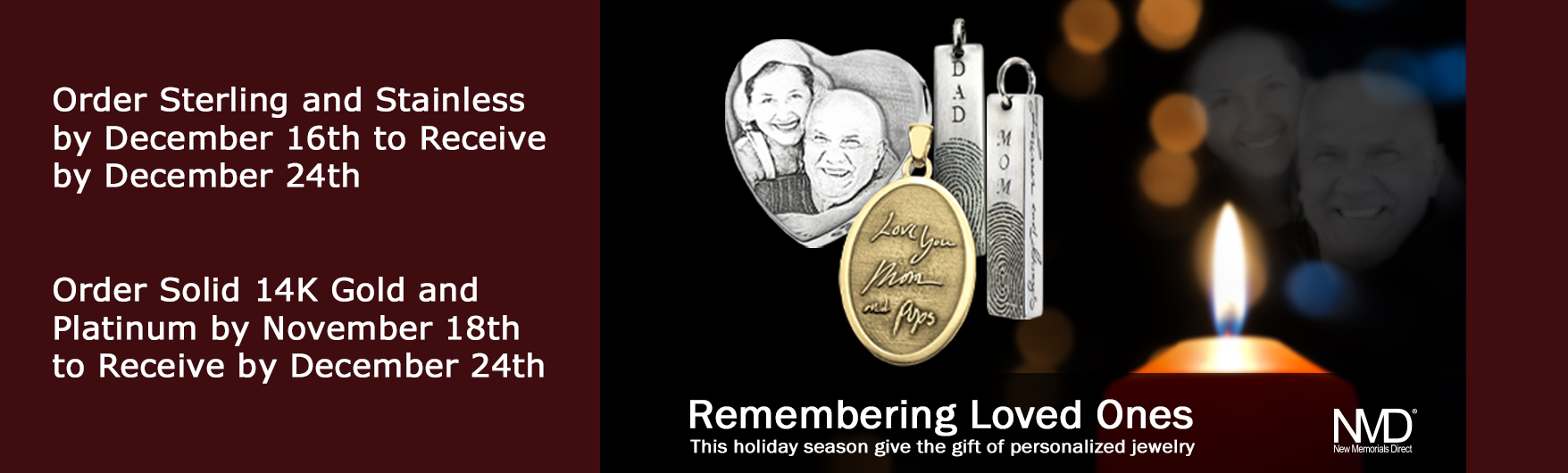 personalized memorial jewelry for the holidays